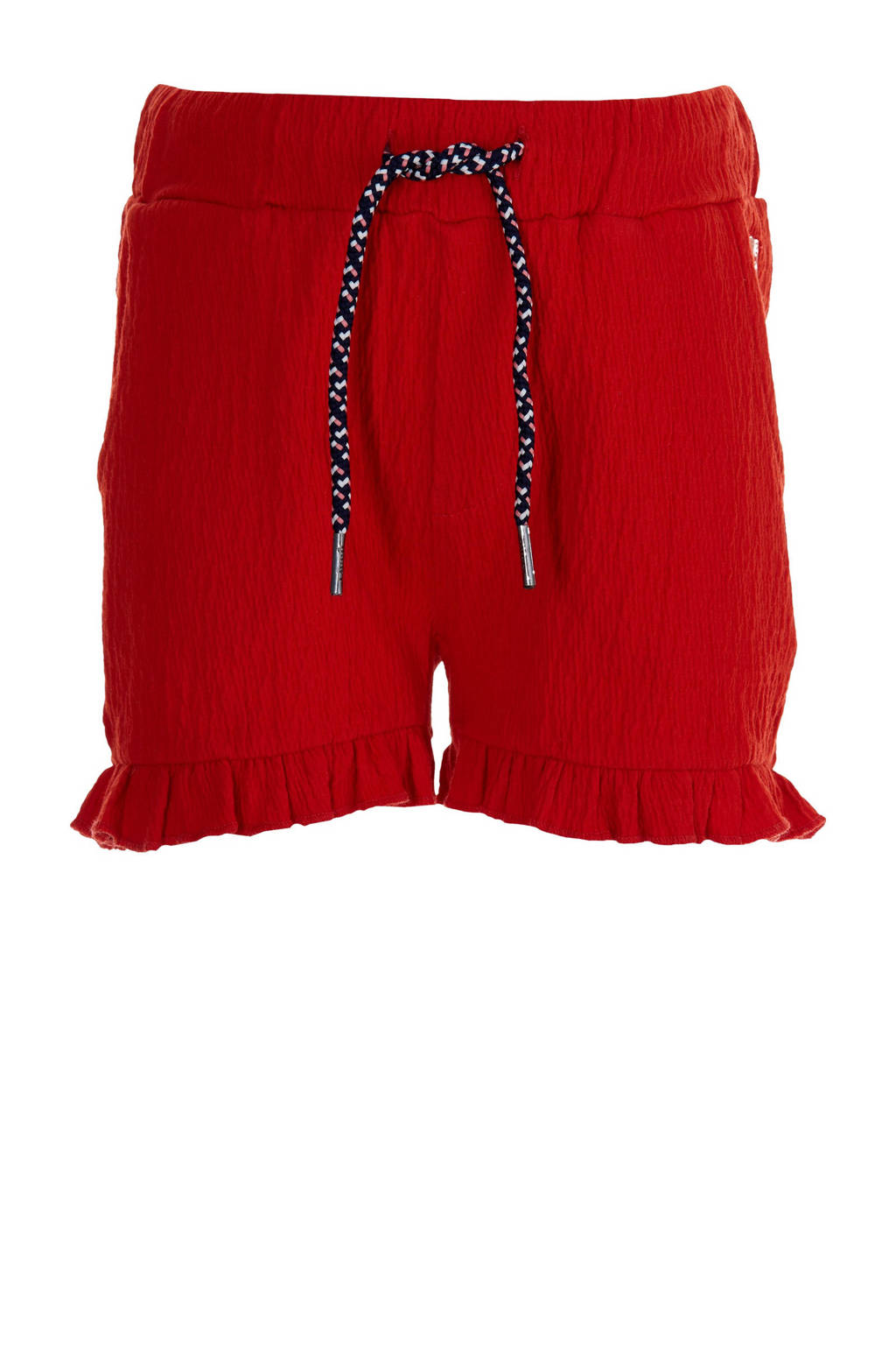 Quapi Girls regular fit short Fimke met textuur rood, Rood