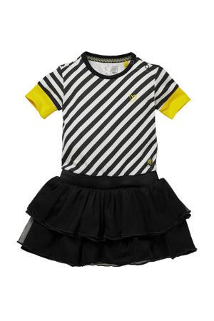 gestreepte jurk Gea zwart/wit
