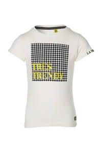 Quapi Girls T-shirt Fay met printopdruk offwhite, Offwhite
