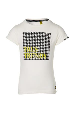T-shirt Fay met printopdruk offwhite