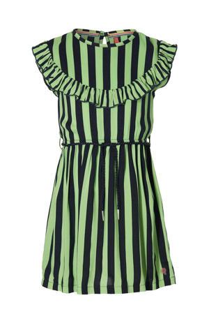 gestreepte jurk Faitlin donkerblauw/fris groen