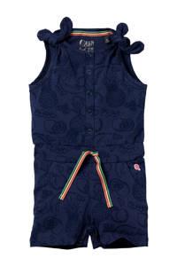 Quapi Mini jumpsuit Ginny met all over print donkerblauw, Donkerblauw