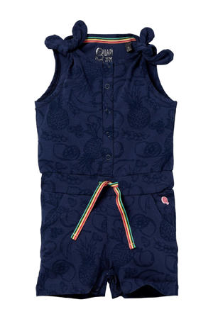 jumpsuit Ginny met all over print donkerblauw