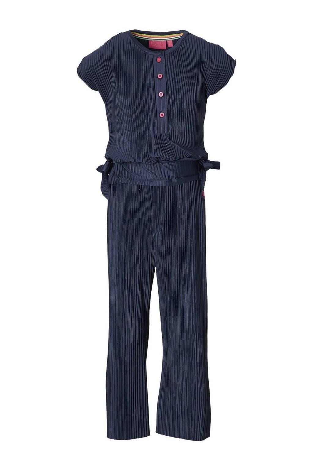 Quapi Girls gestreepte jumpsuit Farola donkerblauw, Donkerblauw