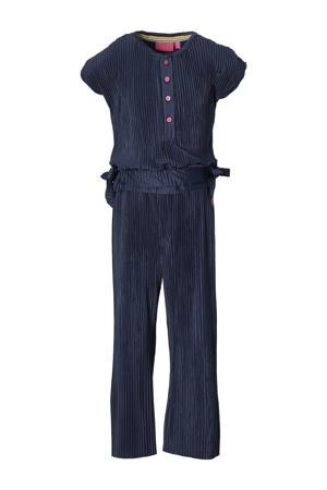 gestreepte jumpsuit Farola donkerblauw