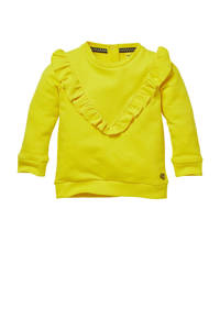Quapi Mini sweater Gila met ruches geel, Geel