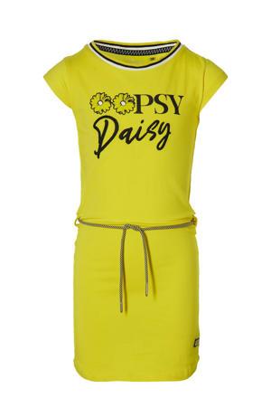 jurk Fab met tekst geel