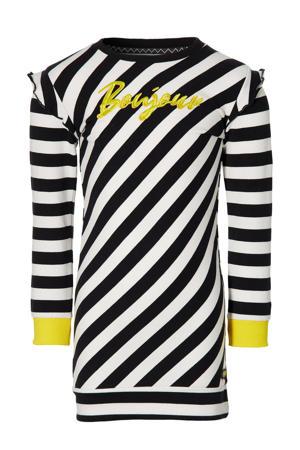gestreepte jurk Faja zwart/wit