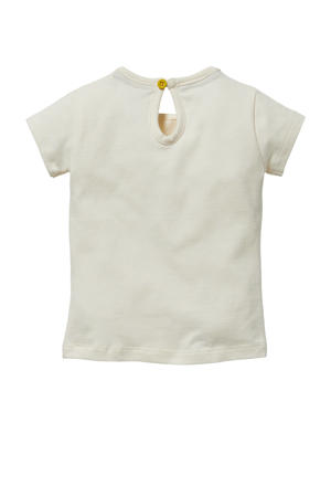 T-shirt Gigi met tekst offwhite