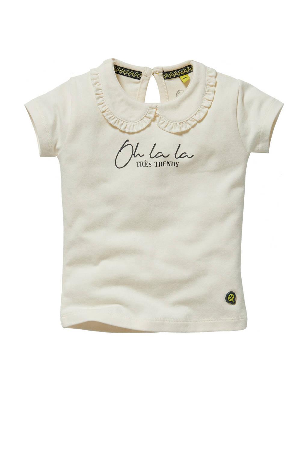Quapi Mini T-shirt Gigi met tekst offwhite, Offwhite