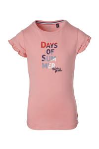 Quapi Girls T-shirt Fiebe met printopdruk roze, Roze