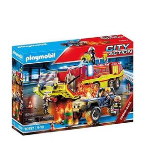 Brandweer met brandweerwagen 70557