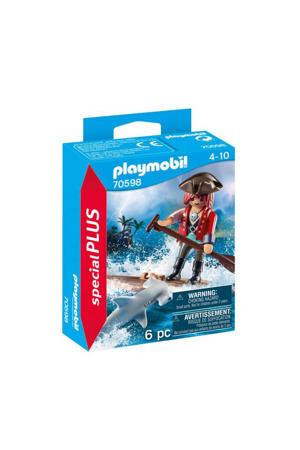 Piraat met vlot en hamerhaai 70598