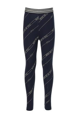 regular fit legging Flo met all over print donkerblauw