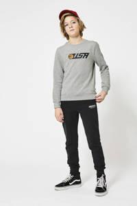 America Today regular fit joggingbroek zwart/wit, Zwart/wit