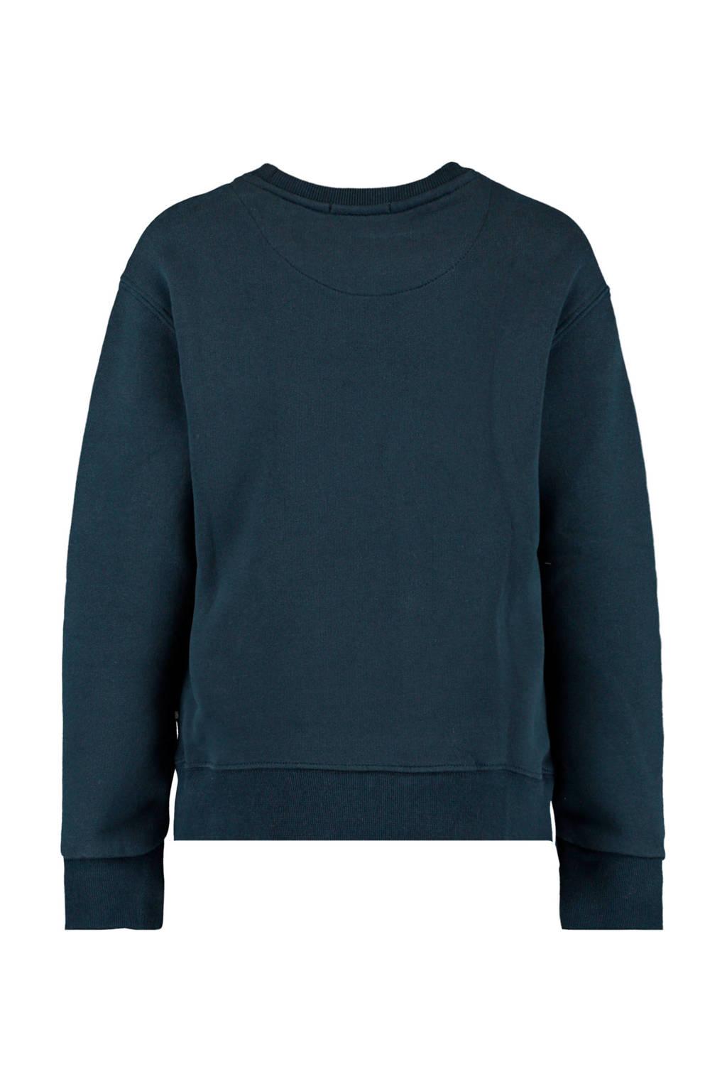 America Today Junior sweater Summer met tekst donkerblauw, Donkerblauw