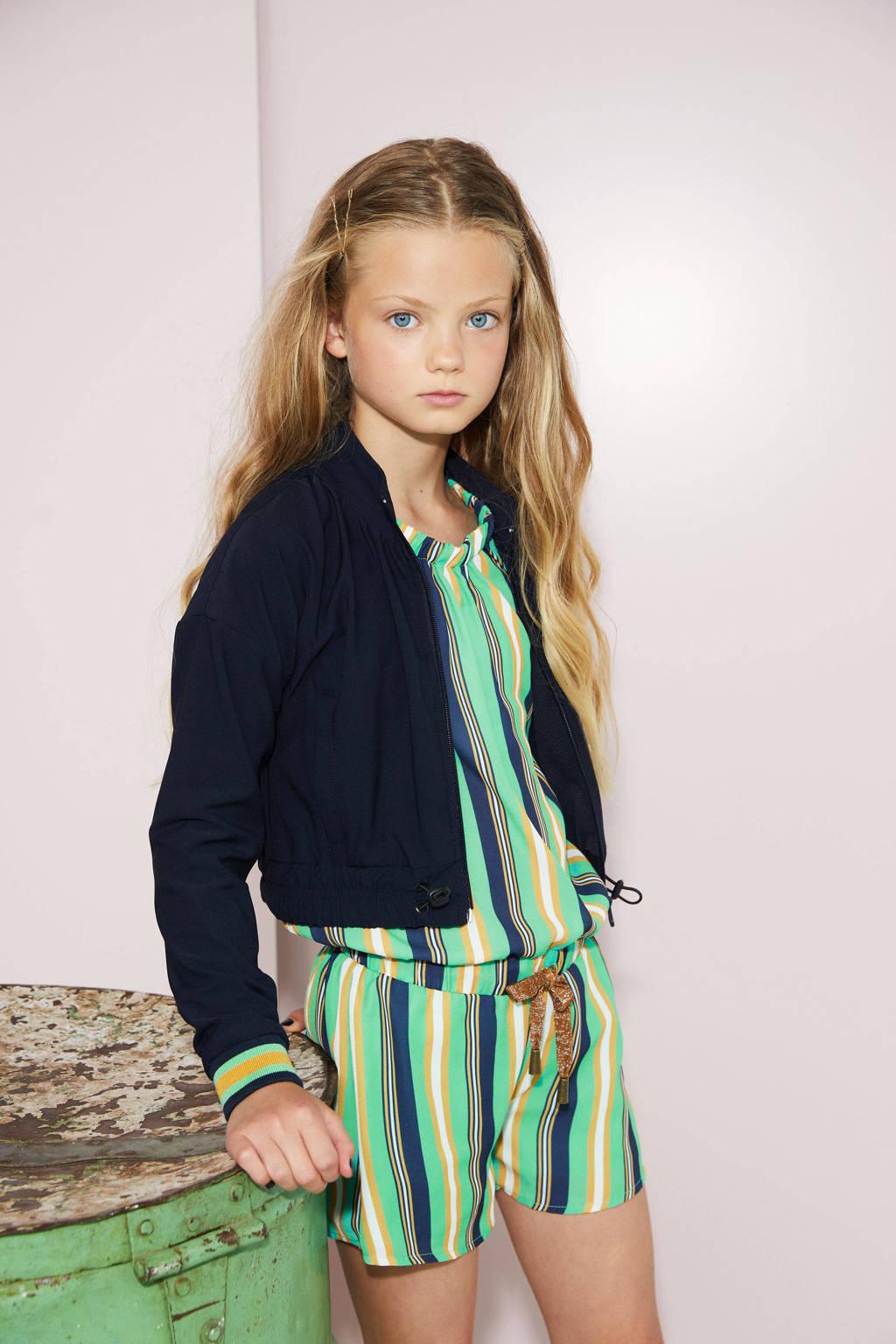 NoBell' gestreepte jumpsuit Sarah groen/geel/donkerblauw