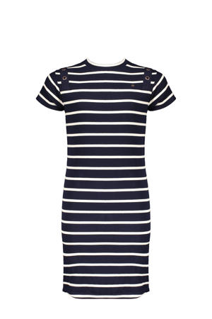 gestreepte jurk Mizzyb donkerblauw/wit