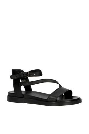 Ketta  leren sandalen zwart