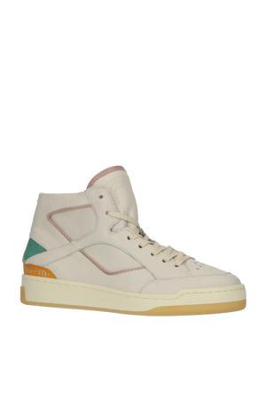 OPA  hoge leren sneakers ecru