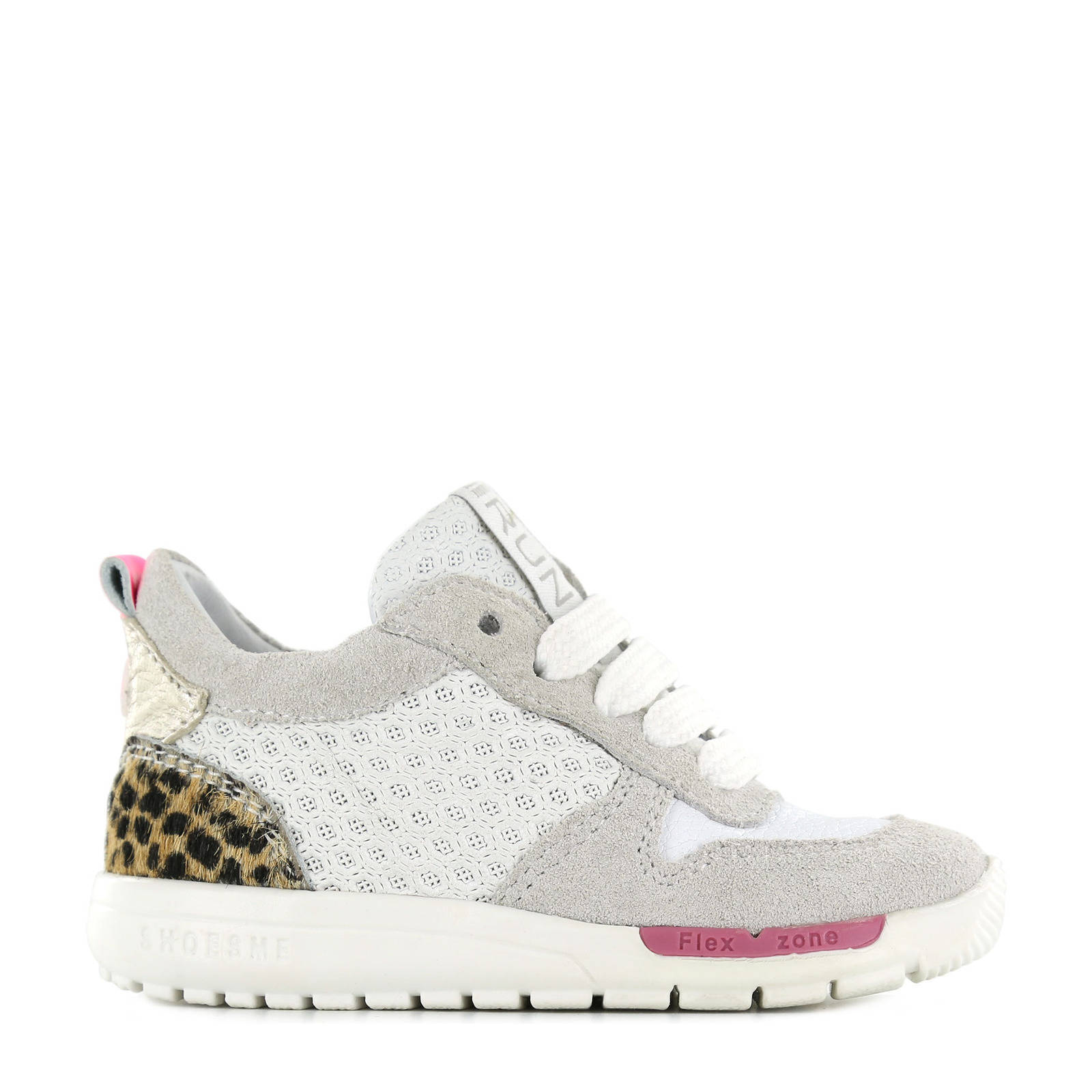 Shoesme RF21S029-A suède sneakers met panterprint wit online kopen