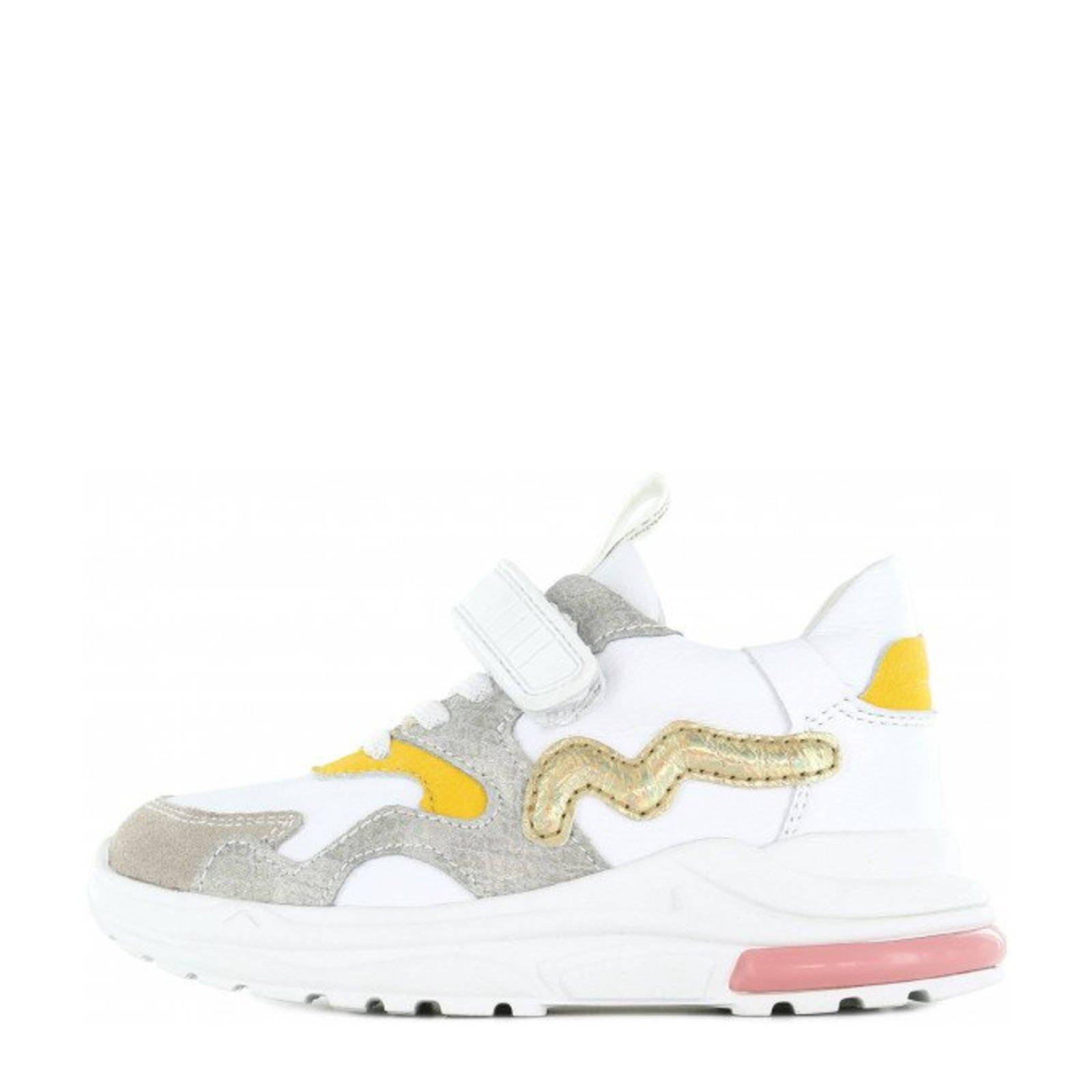 Shoesme NR21S006-B leren sneakers wit/multi online kopen