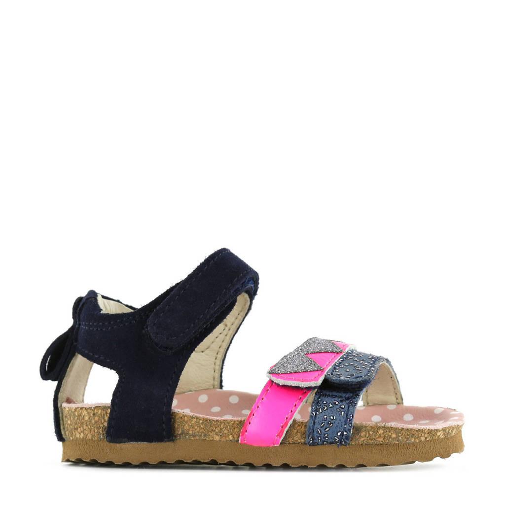 Shoesme BI21S080-C  leren sandalen donkerblauw/multi, Donkerblauw/multi