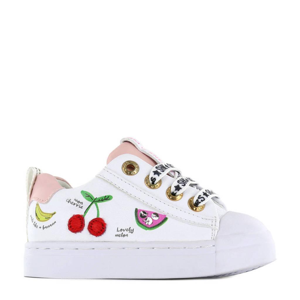 Shoesme SH21S002-F  leren sneakers wit/multi, Wit/multi