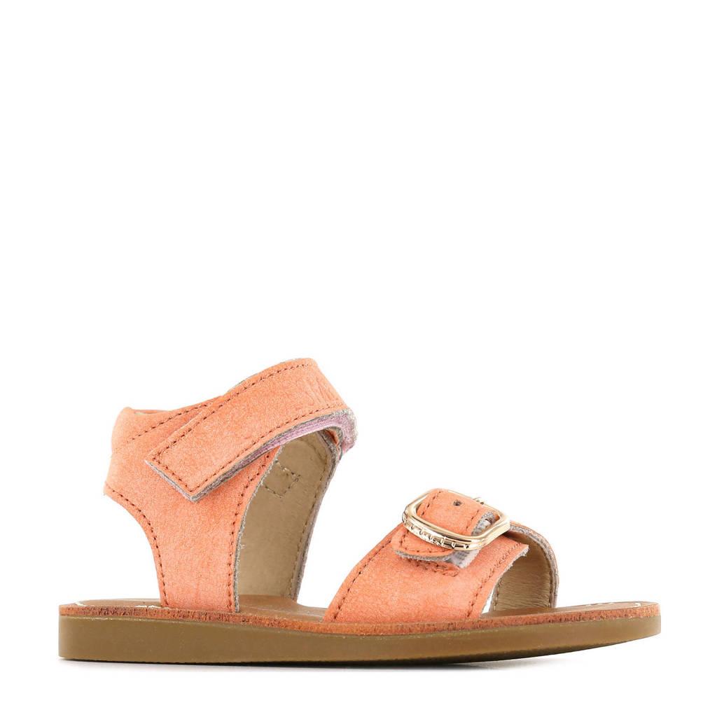 Shoesme CS21S004-A  leren sandalen perzik, Oranje/Perzik