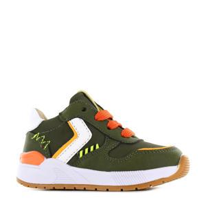 ST21S017-B  leren sneakers groen