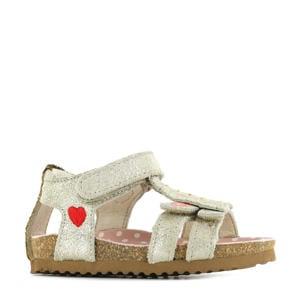 BI21S092-B  leren sandalen goud