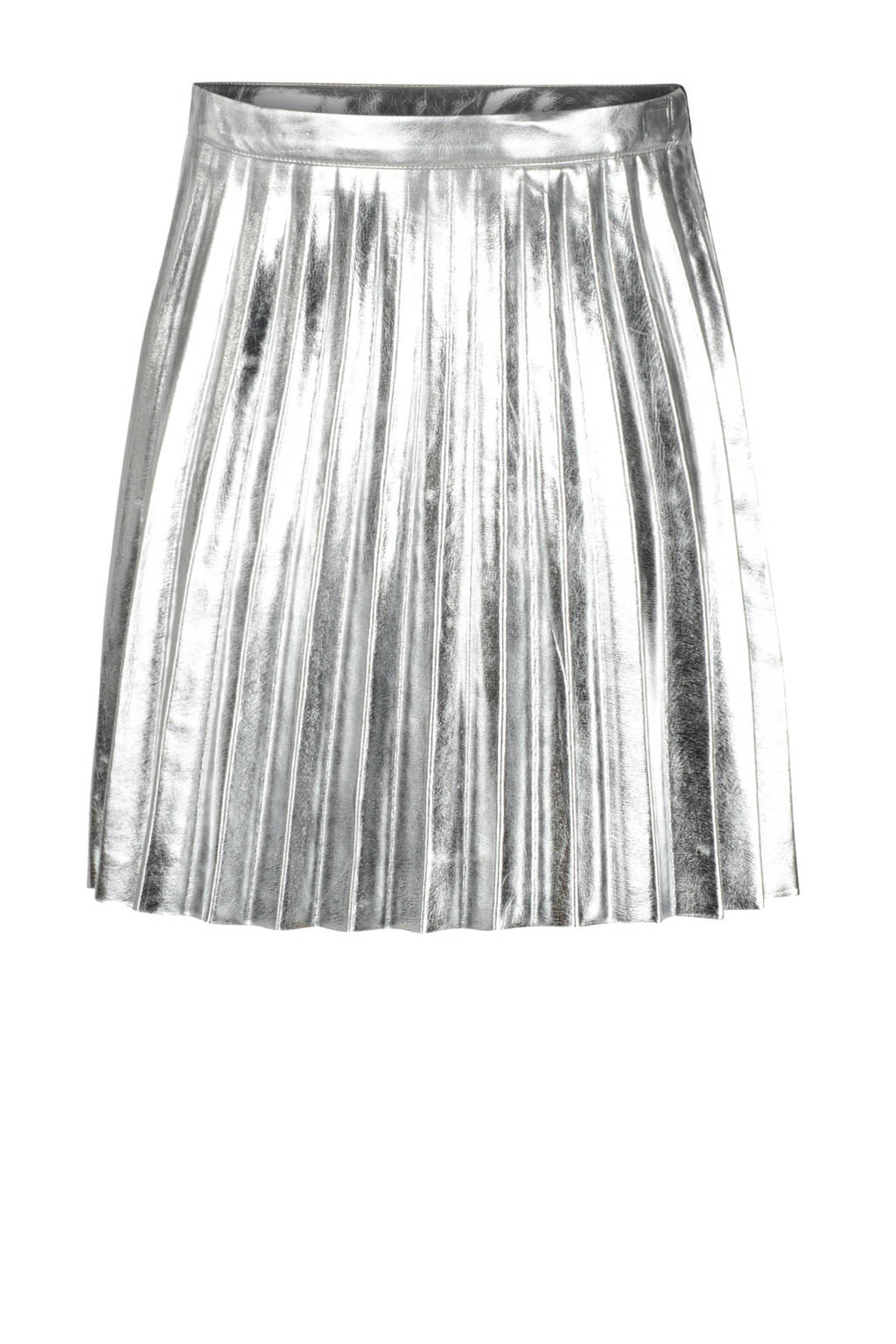 Jill & Mitch by Shoeby imitatieleren plissé rok Silver zilver, Zilver