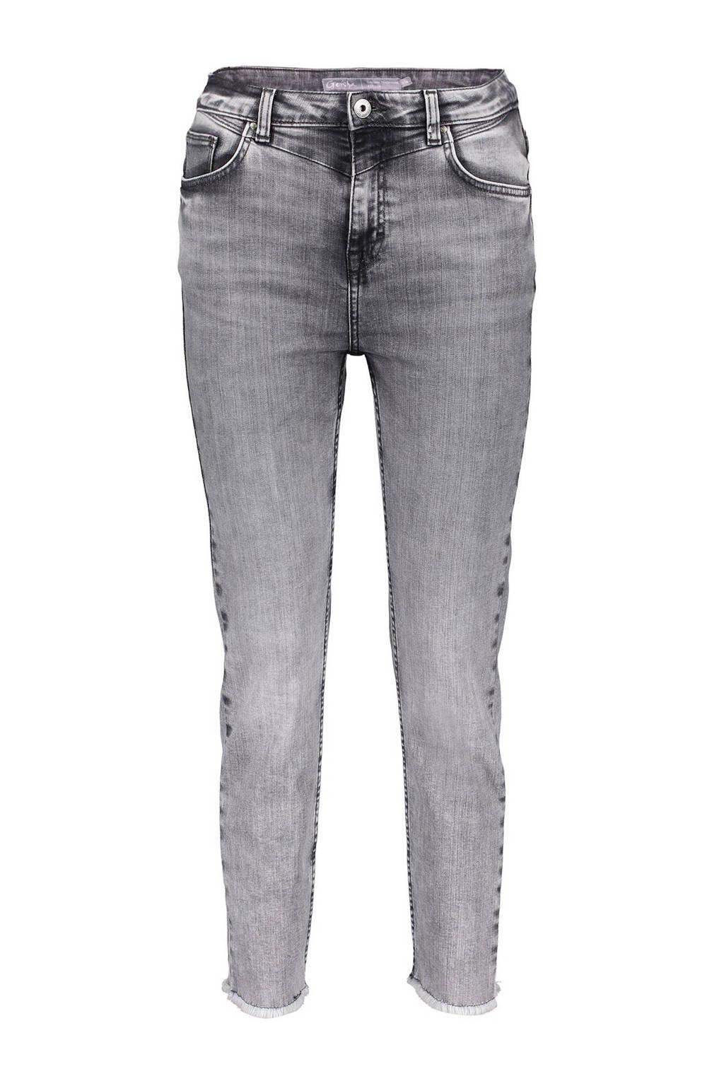 Geisha slim fit jeans grijs, Grijs