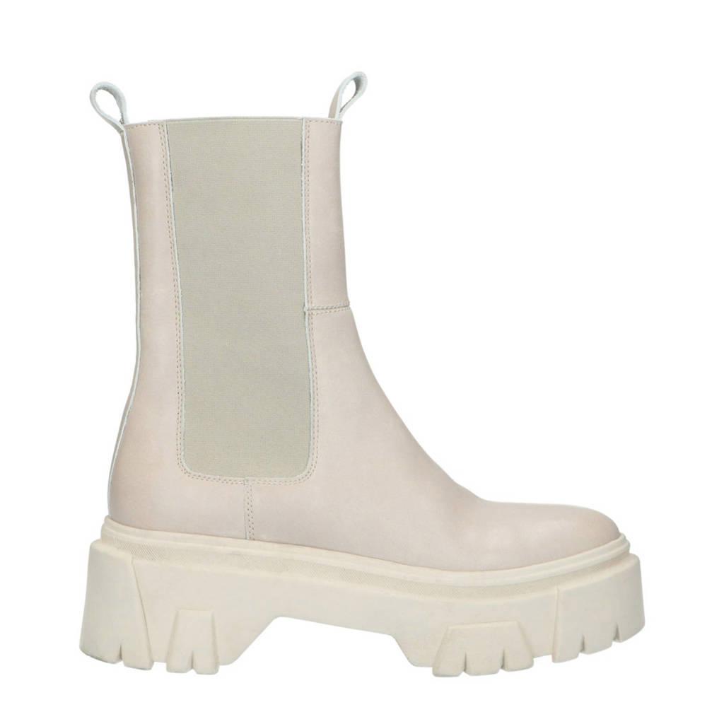 Sacha   leren chelsea boots off white, Ercu/Off white