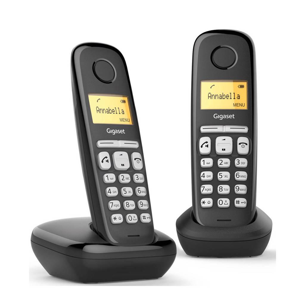 Gigaset AL380 Duo huistelefoon, Zwart