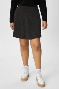 C&A XL Clockhouse rok met glitters zwart, Zwart