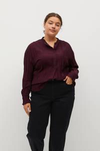 Violeta by Mango blouse donkerrood, Donkerrood