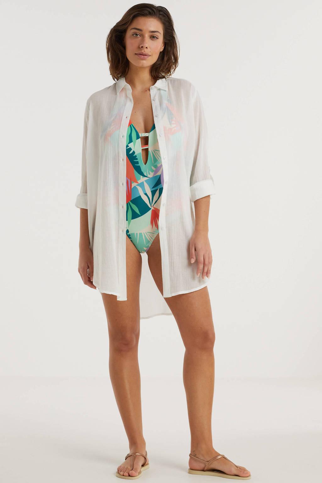 BEACHWAVE blouse wit, Wit