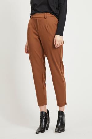 slim fit pantalon OBJLISA bruin