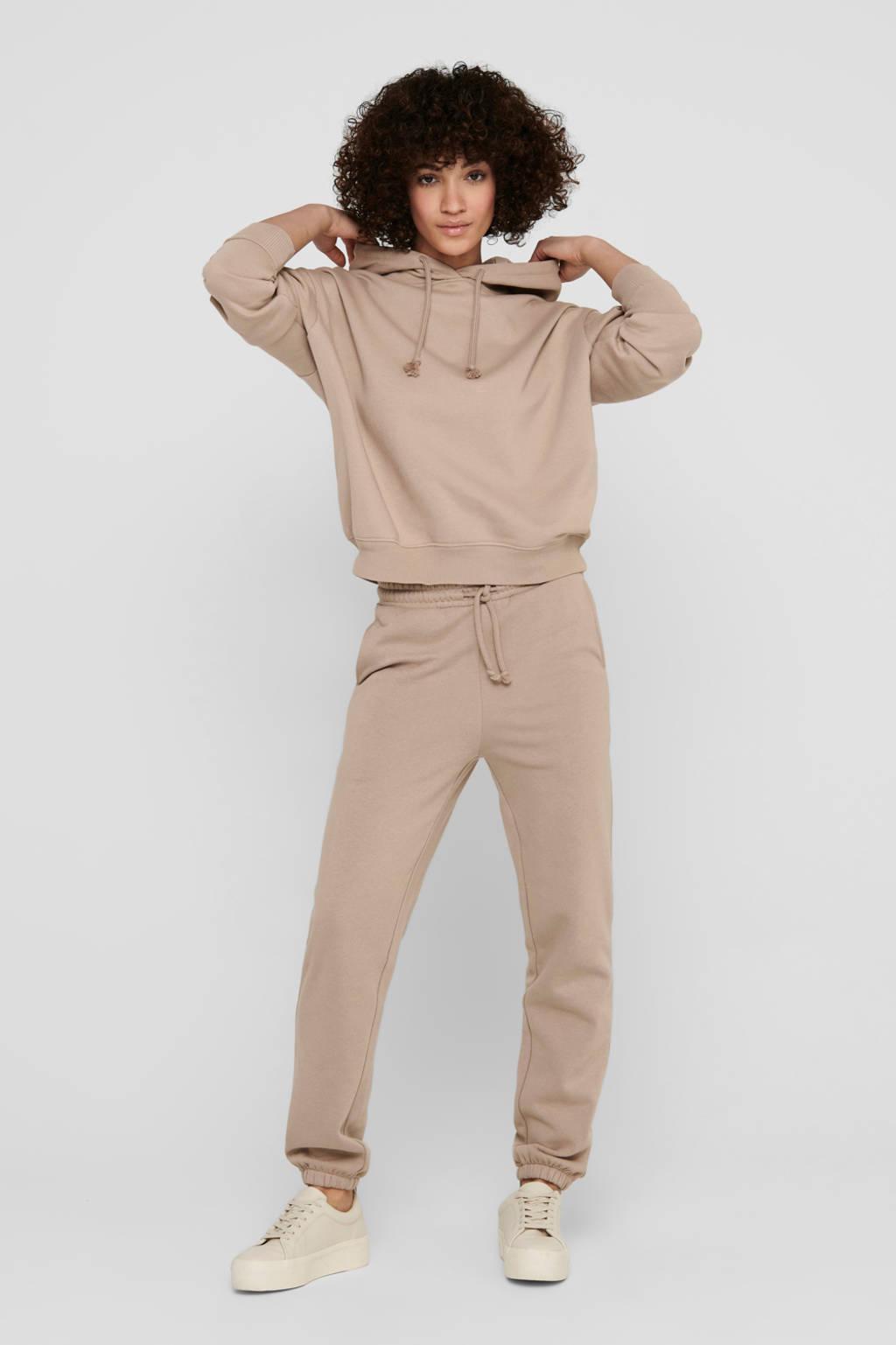JACQUELINE DE YONG gemêleerde hoodie JDYPARIS met biologisch katoen beige, Beige