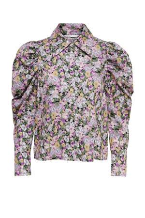 gebloemde blouse roze/multi