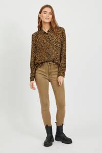 VILA blouse VILUCY met all over print bruin, Bruin