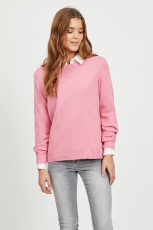 gemêleerde fijngebreide trui VIRIL roze
