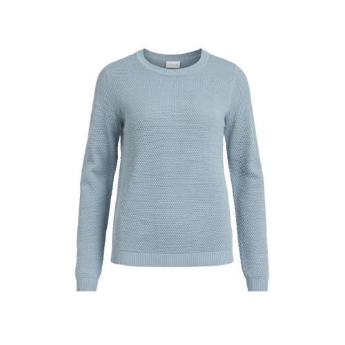VILA fijngebreide trui lichtblauw VICHASSA