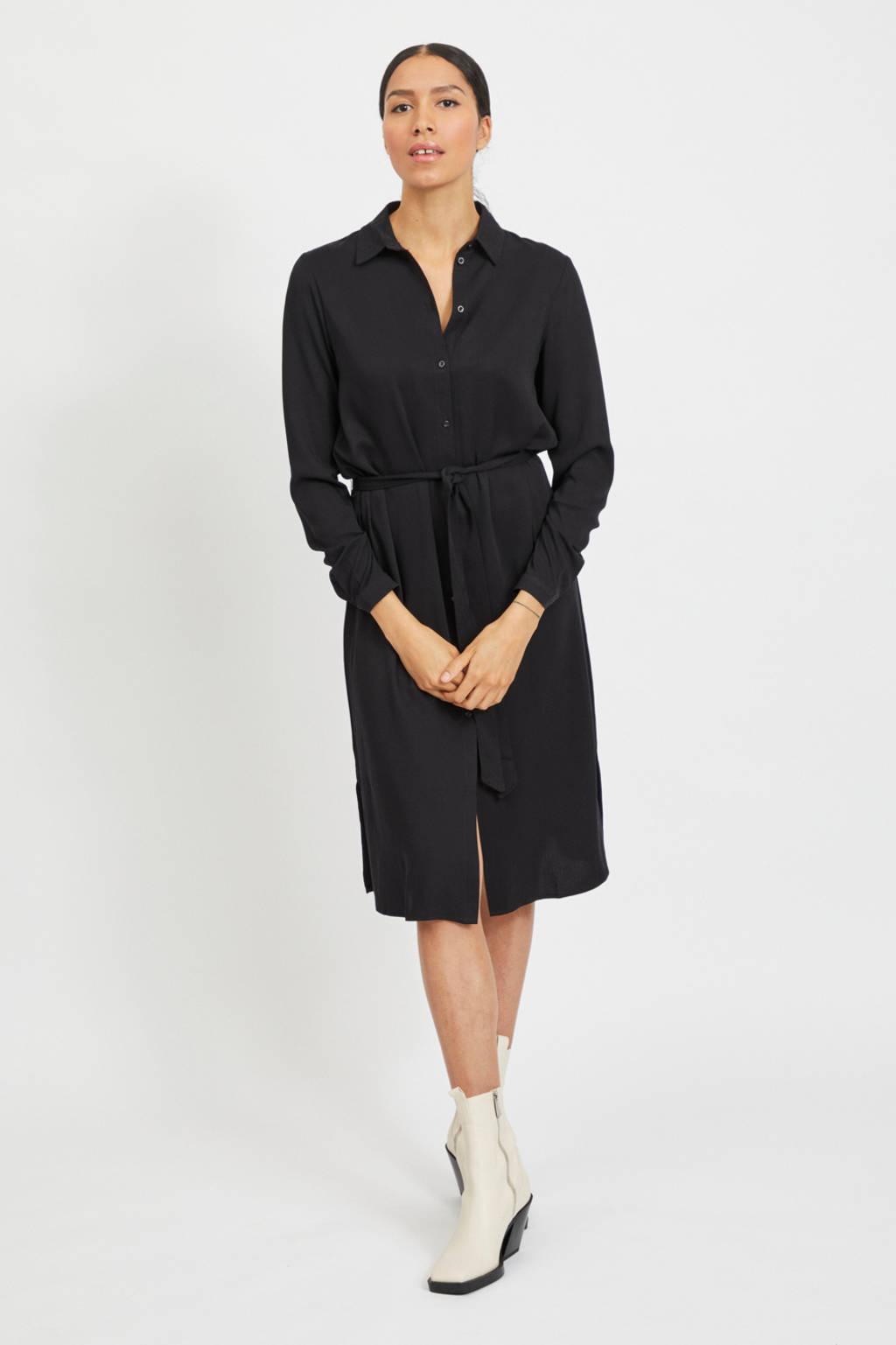 VILA jurk VIDANIA zwart, Zwart