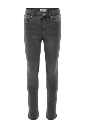 skinny jeans Royal met biologisch katoen grijs stonewashed