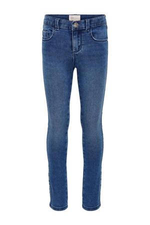 high waist skinny jeans Royal met biologisch katoen stonewashed
