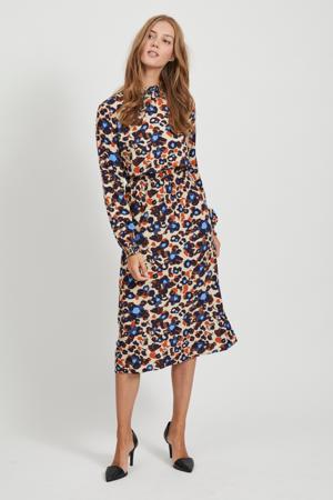 gebloemde jurk VISAG ecru/multi