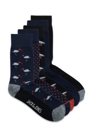 sokken - set van 5 donkerblauw/zwart