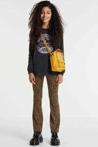 KIDS ONLY flared broek KONPAIGE met panterprint bruin/zwart, Bruin/zwart